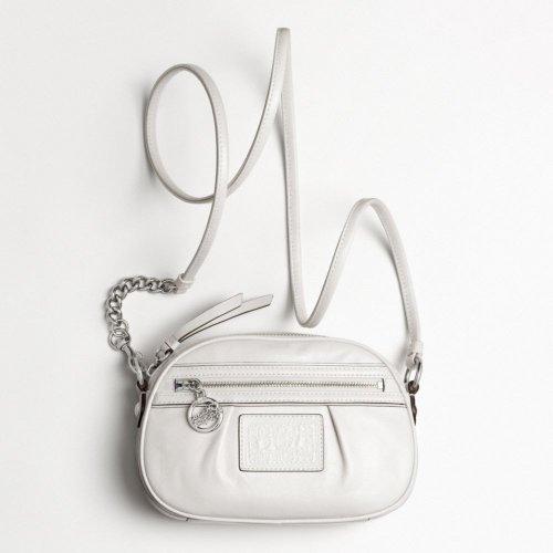 Coach Poppy Leather Bean Crossbody Bag Purse 45507 Parchment by Coach