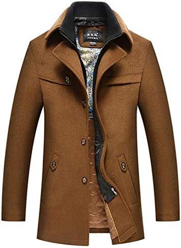 Manteau en Laine pour Homme Homme Doublure en Soie épaisse