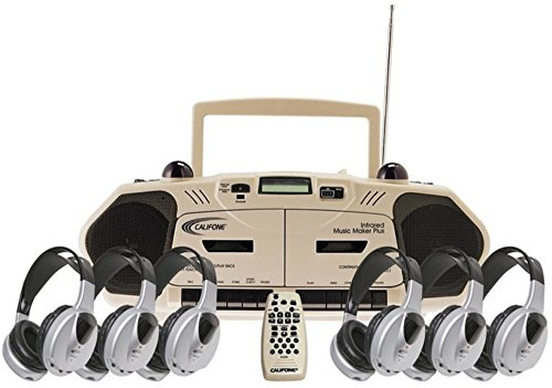 Califone 2395IRPLC-6 6-Person Infrared Music Maker Plus Learning Center. Includes 2395IR Wireless Music Maker Plus Multimedia Player and Six HIR-HP1 Infrared Headphones