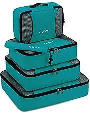Gonex Organiseurs de Bagage Sacs Rangement de Valise Voyage (B-Bleu-Vert, 5 unités)