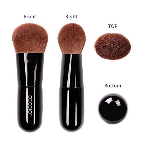 Docolor Kabuki Foundation Face Powder Brush Portable Makeup Cosmetic Tool(Black)