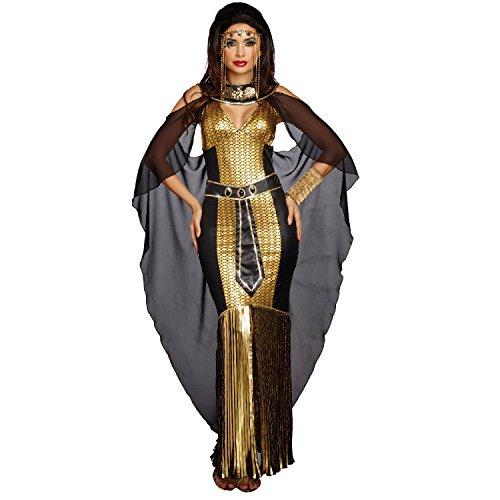 Dreamgirl Women's Egyptian Queen, Black/Gold, M -
