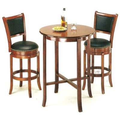 Merveilleux 3pcs York Cherry Pub Table Set With 2 Bar Stools