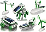 Happy GiftMart 6 in 1 Educational Solar Robot Energy Kit Science School Projects For Kids.