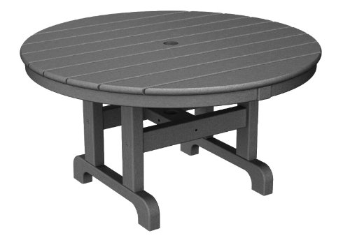 Table Coffee Polywood Round - POLYWOOD Round Conversation Table in White, 36-Inch