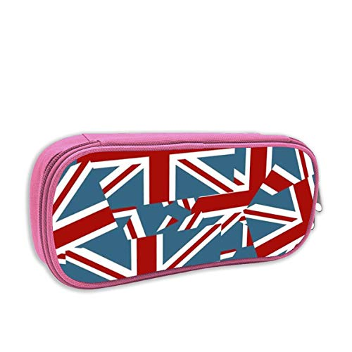 Watercream Jack-flag-red-white-blue-wallpaper-wallp016.jpg Student Pen Pencil Case Stationery Pouch Coin Purse Comestic Bags Office Storage Organizer