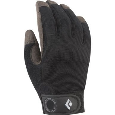 Black Diamond Crag Climbing Gloves, Black, Medium (Belay Glove)