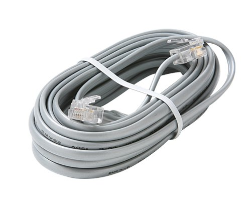 Steren 304-725SL Silver 4C Data Cable Landline Telephone Accessory