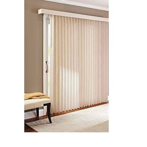 better homes and gardens vertical textured s slat privacy blinds - Blinds For Patio Doors