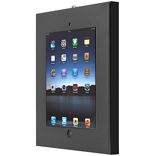 SecurityXtra SecureDOCK UNO Security Flat to Wall Lock Mount for iPad Pro Black by SecurityXtra (Image #1)