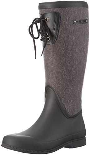 Wool 011 Schwarz Tretorn Lisa Noir Lace black Femme Hautes Bottes EEzPq