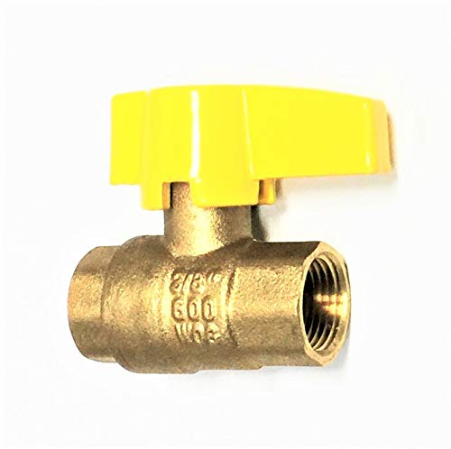 Forged Brass Gas Ball Valve - Valogin VG-A12342-3/8 Premium Gas Ball Valve, FIP X FIP, 3/8-Inch