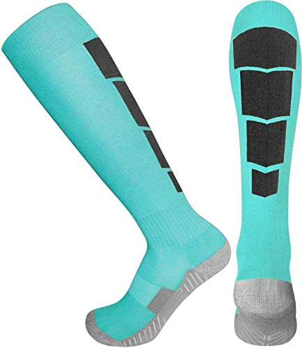 Elite Athletic Socks - Over The Calf - Turquoise (Large, Turquoise) -