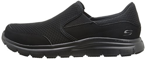 Skechers Men's Black Flex Advantage Slip Resistant Mcallen Slip On - 10.5 D(M) US by Skechers (Image #5)