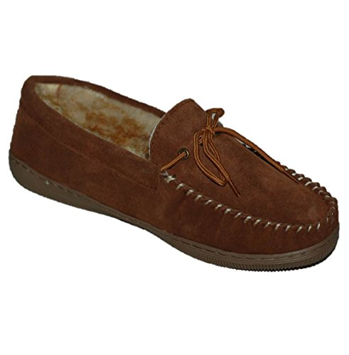 Moccasin Suede Men's Medium Tamarac Leather Slippers Allspice Outdoor 11 Indoor Nathan Upper US SwwFX8