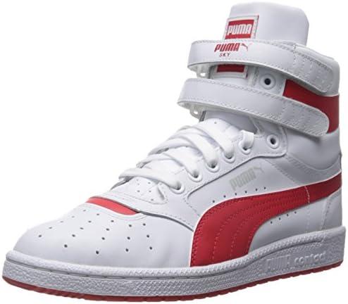 PUMA Men's Sky Ii Hi FG Fashion Sneakers, WhiteHigh Risk