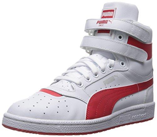 PUMA Mens Sky II Hi FG Fashion Sneakers White/High Risk Red TVyvLuK0