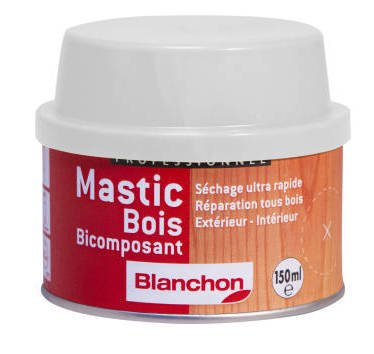 Mastic bi composant bois inté rieurs/exté rieurs pin 150 ml 2108703 BLANCHON