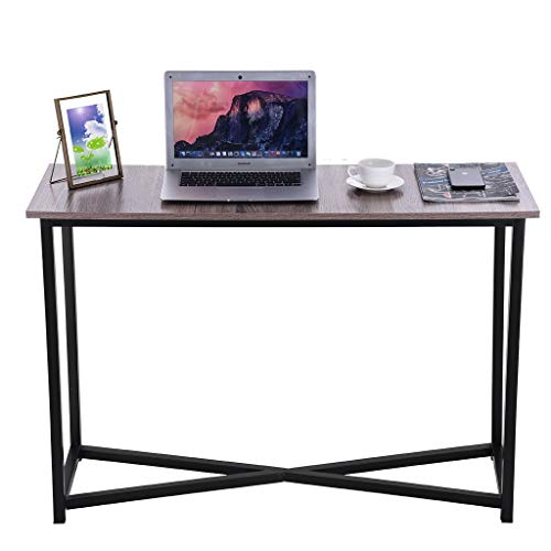 Small Coffee Table, Metal Baking Varnish Rectangle TV Stand Vintage Cocktail End Table Simple Painted Living Room Sofa Table Bedroom Bedside Table lkoezi (90x50x38cm, Gray)