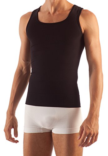 Farmacell Control - FarmaCell 418 (Black, M) Men's Tummy Control Total Body Shaping Vest
