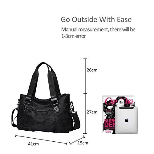 Black Large Waterproof NICOLE amp;DORIS Camouflage Bag Crossbody Handbags Shoulder Capacity Women Satchel Tote Black Lightweight Bag Travel Bag Nylon UPwqU6A