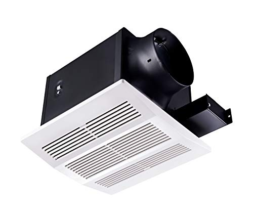 Tech Drive Super-Quiet 110 CFM, 0.8 Sone Bathroom Ventilation and Exhaust Fan (110CFM) with Humidity Sensor