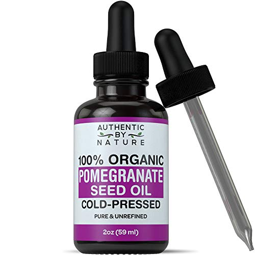 Organic Pomegranate Seed Oil. 100% Pure Unrefined Cold Pressed Essential Oil. Unclog Pores, Remove Dirt, Acne From Skin. Nourishes Hair and Scalp. Natural Antioxidant Moisturizer For Men + Women - Pure Organic Pomegranate 100%