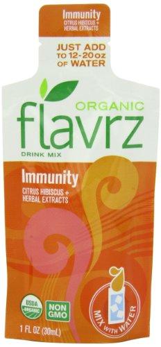 Flavrz Органические Иммунитет Напитки Mix Одноместный Подавать 2go сумки, 1 унция (упаковка из 5)