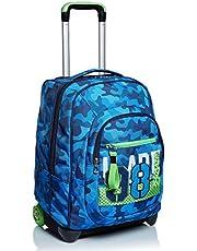 Trolley Seven, Crew, blauw, 2-in-1 rugzak met cross-over-systeem, school en reis