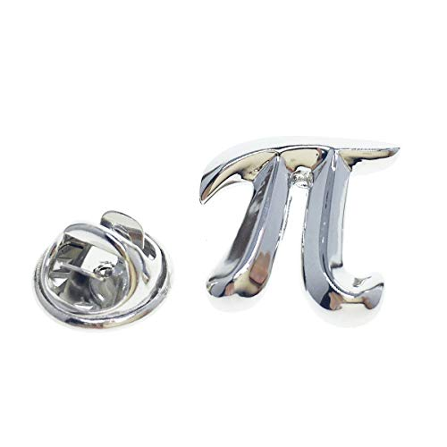 Cuff-Arts Lapel Pin Badges Maths Pi Symbol Pin Brooch Buttons Pins with a Gift Box P10120