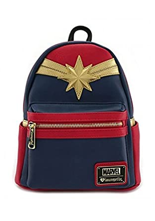 ff382beeec56 Loungefly Captain Marvel Faux Leather Mini Backpack Standard