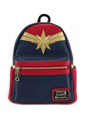 ویکالا · خرید  اصل اورجینال · خرید از آمازون · Loungefly Captain Marvel Faux Leather Mini Backpack Standard wekala · ویکالا