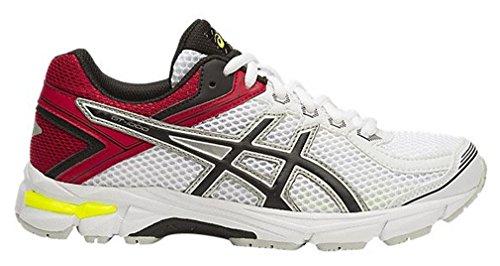 Asics Gt-1000 4 Gs - zapatos de entrenamiento de carrera en asfalto Unisex Niños Blanco / Rojo / Negro