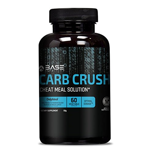 BASE CARB CRUSH - Carb Blocker & Appetite Suppressant - Smart Weight Loss Pills that Allow you to Cheat on Your Diet - Among the Best Weight Loss Products - 60 Natural Vegetable Pills