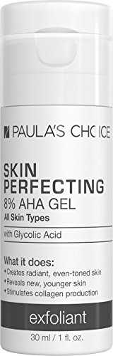 Paula's Choice-SKIN PERFECTING 8% AHA Gel Exfoliant-with Glycolic Acid Soothing Chamomile and Green Tea, 1 Ounce Travel Size Leave-On Gentle Chemical Exfoliator for Normal, Dry, Oily, Combination ()