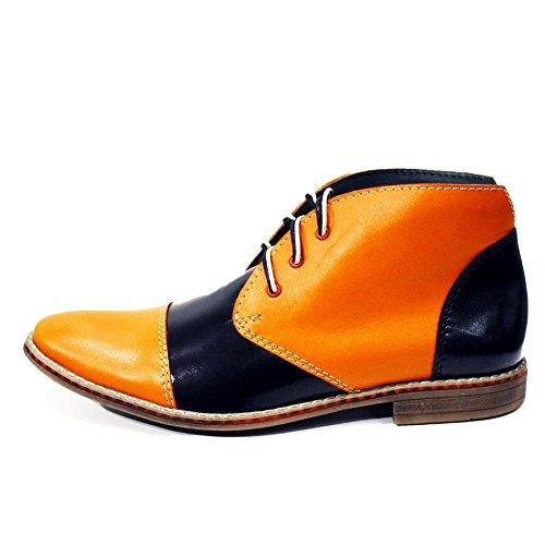 da da da Pelle Arancia Vacchetta Chukka Alatri Pelle Boots Modello Uomo Uomo Uomo Uomo in Allacciare Morbido Handmade Italiano tpqCYH