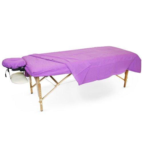 Flannel Sheet Set for Massage Tables (1 Set, Lavender)