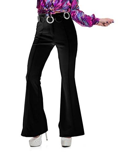 Charades Women's Disco Pants, Black, X-Small by Charades