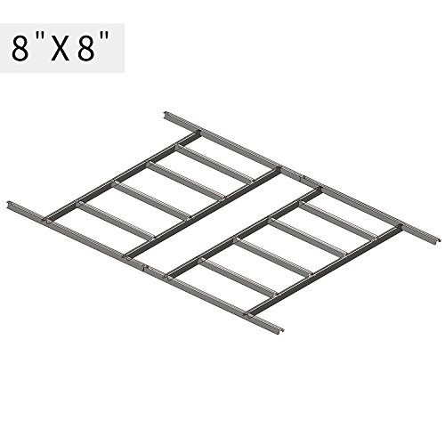 Wonlink Metal Floor Frame Kit Storage Shed Base Kit For 8''x8''Storage Buildings(fit 8''x8''), sliver by Wonlink