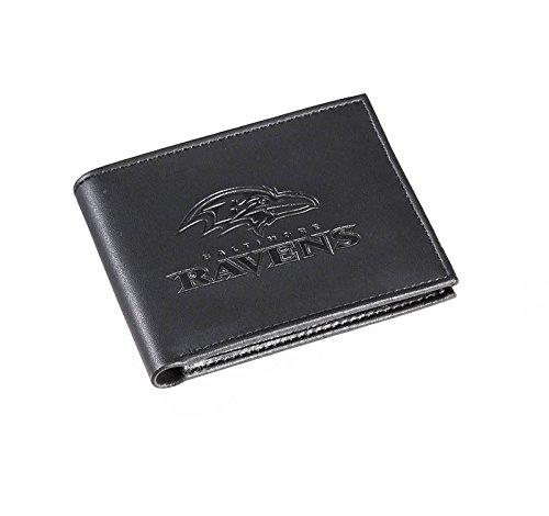 Baltimore Ravens Black Leather - Team Sports America NFL Baltimore Ravens Bi-Fold Wallet, Black