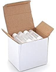 25, Clear, Empty, 5.5 ml Lip Balm Tubes with White Caps