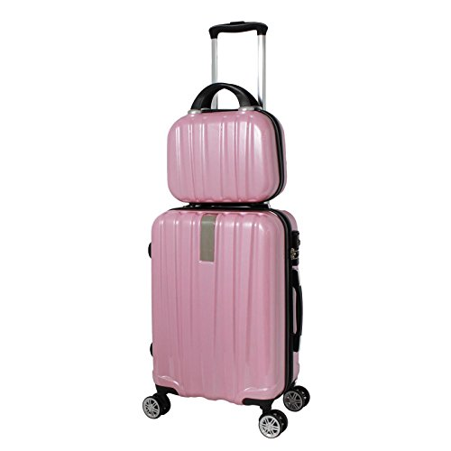 World Traveler Monaco 2-Piece Expandable Carry-on Spinner Luggage Set, Pink by World Traveler