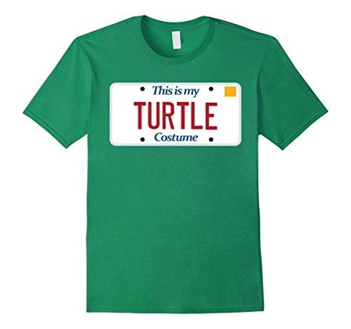 I Like Turtles Costume (Mens Turtle t-shirt; generic costume tshirt; silly Halloween tee Large Kelly Green)