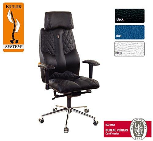 Kulik System© BUSINESS Luxury Italian Höchste Qualität Ergonomic Büro / Hause Computer Schreibtisch Lehnstühle Stühle Sessel (Schwarz2)