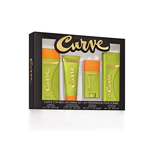 Curve Men's Shampoo Shower Gel & After Shave Balm Deodorant Stick, 1.95 Pound (Curve Balm Body)