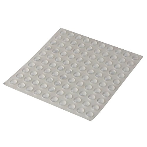 Cabinet Door Bumper,Clear Bumpon Blister Pack (100 Bumpons)