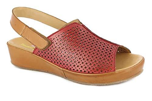 Piel Antideslizante Perforada Cuña Rojo Sandalia 4 Doctor Velcro Con Piso 275 Gel Mujer 33915 Marca Plantilla Cutillas Cierre Color Cm En qYwgpUXw