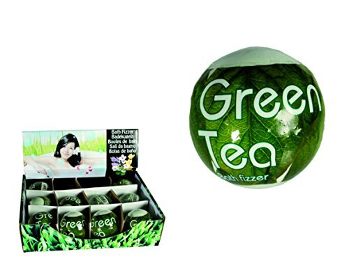 Green Tea Bath Bomb - Pamper / Spa / Bubble Bath - Women, Woman, Lady, Ladies, Her Best, Top, Selling Fun, Novelty, Birthday, Christmas, Xmas Gift, Present Idea by Kenzies Gifts (Best Xmas Presents For Her)
