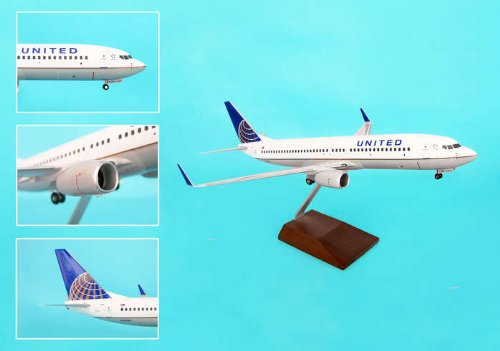 Daron Skymarks United 737-800 Post Co Merger Liver Model Kit (1/100 Scale) by Daron
