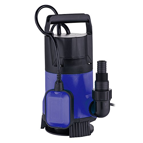 Z ZTDM 1/2 HP 2100GPH Potable Submersible Water Pump, 400W 8000L/H Dirty Clean Water Sump Pump, Heavy Duty Water Transfer for Swimming Pool Pond w/Panel & Float Switch